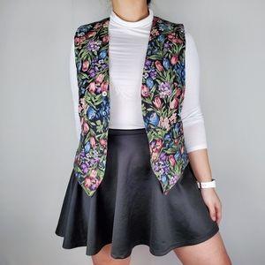 Stussy Rare Vintage Colorful Floral Vest